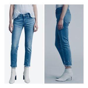 Rag & Bone Anklet Dre Paint Boyfriend Jeans/27/NWT